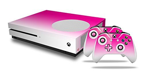 Smooth Fades White Hot Pink Decal Style Skin Set Fits Xbox One S
