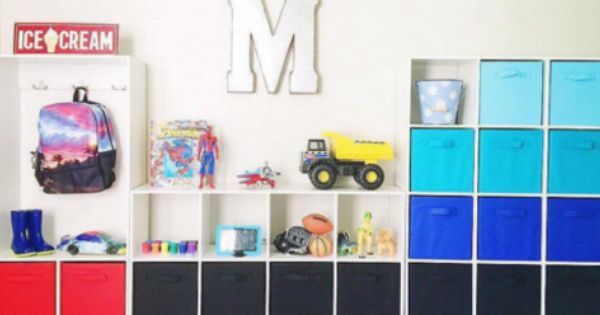 This Is A Great Combination Of Closetmaid Cube Organizers And Fabric Drawers Done By Smartschoolhouse Kids Storage Fabric Drawers Closetmaid