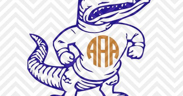 Florida Gators Monogram Decal Svg File Cut File Cricut