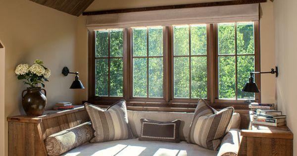 rustikales wohnzimmer fensternischeneinbau houzz. Black Bedroom Furniture Sets. Home Design Ideas
