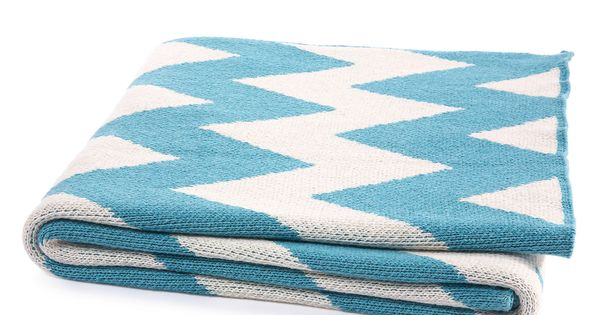 aqua chevron throw blanket