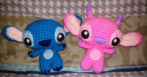 How to crochet amigurumi versions of stitch and angel from for Lilo and stitch arts and crafts