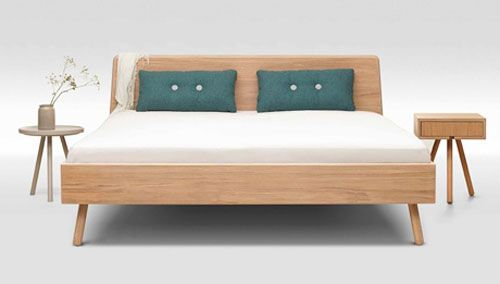 Trecompany Scandinavian Style Bed And Side Table Scandinavian Bed Frames Bed Styling Bed Design