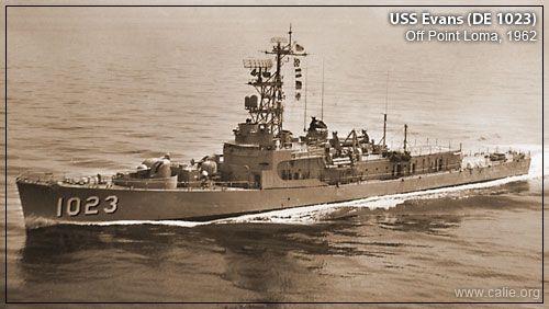 A U S Navy Destroyer War Ship The Uss Evans De 1023