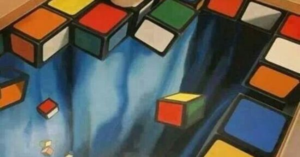 Amazing 3d Art Rubik S Cube Bathroom Fabulous Floors
