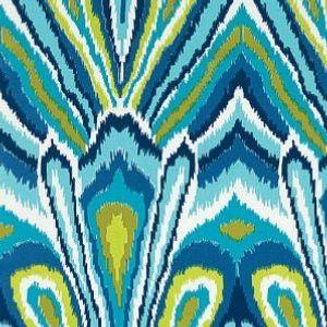 Schumacher Peacock Print Pool Fabric Outdoor Fabric Fabric Printing On Fabric