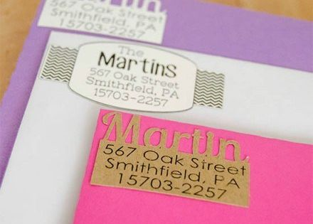 Diy Return Address Labels Silhouette By Unoriginal Mon