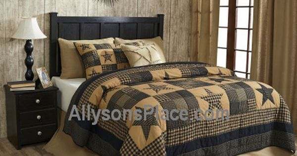 Primitive Star Patch Black Bedding Quilted W Coupon