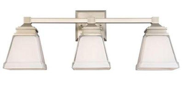 Hampton Bay Dakota Collection 3 Light Bathroom Vanity: Hampton Bay Landray 3-Light Brushed Nickel Vanity Light