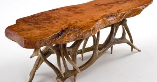 Log Furniture Burl Aspen 4 Post Log Bed With Elk