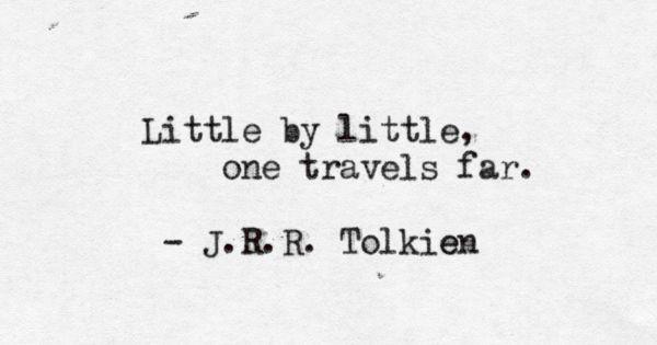 JRR Tolkien baby steps