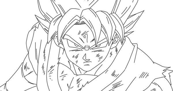Goku Fase 3 para colorear - Imágenes de son Goku: Todas