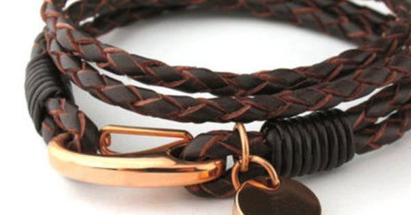 #Mens accessories leather bracelet