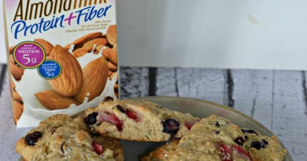Red, White, and Blue Scones made with Silk Almondmilk | Recipe ...