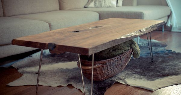 Slab Coffee Table - Christian Fecht Design. I've seen dining tables like