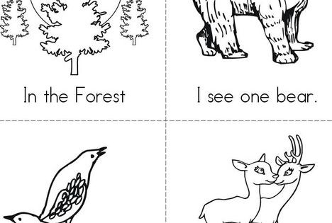 in the forest free mini book from animal readers coloring pages and. Black Bedroom Furniture Sets. Home Design Ideas