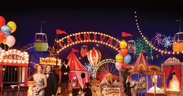 Carnival extravaganza complete prom theme prom under the big top for 2016 fun vintage new - Cheap circus decorations ...