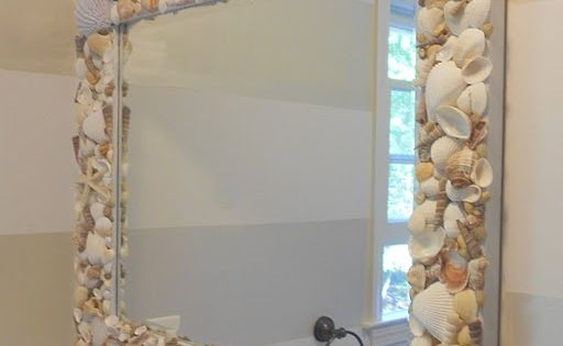 Diy Shell Mirror You could put all kinds of things on the