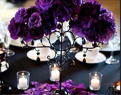 Ceremony, Reception, Flowers & Decor, white, purple, black, Ceremony Flowers, Flowers, Inspiration