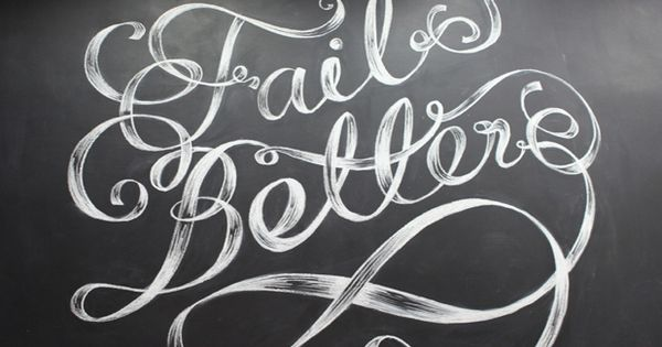 'Fail Better' wall illustration by MaricorMaricar