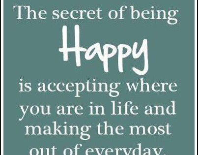 Positive Inspiration Quotes: The secret of being Happy...