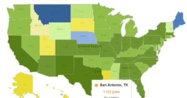 The Glassdoor Job Explorer Tool Maps Job Opportunities By City
