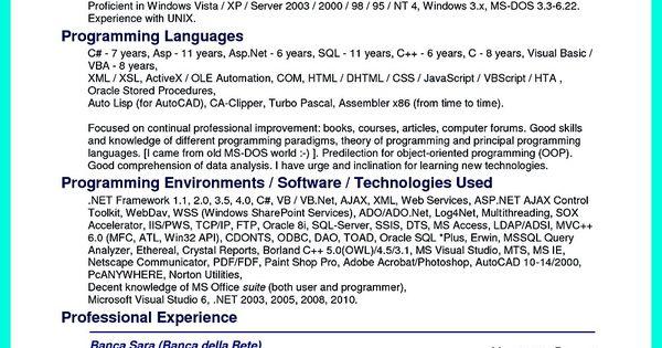 resume project management