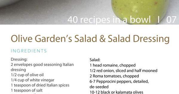 Olive Garden Salad Dressing Food Pinterest Gardens Olive Gardens And Olive Garden Salad