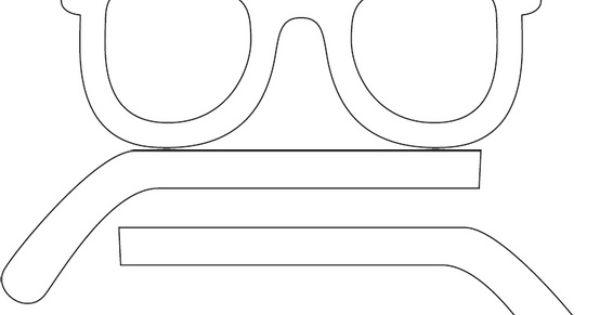 Kleurplaat Carnaval Brandweerman Zonnebril Silhouette Kleurplaat Sunglasses Silhouette Free