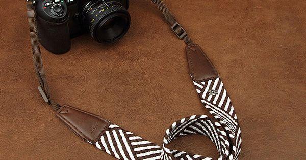 Canon Sony Beautiful Blue Stitched Denim Style Camera Strap for Nikon