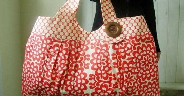cute bag tutorial! this is why I need a sewing machine!
