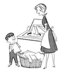 Image Result For Sketches Of Helping Mother In Washing Clothes At Home Mother Images Clipart Black And White Graphics Fairy
