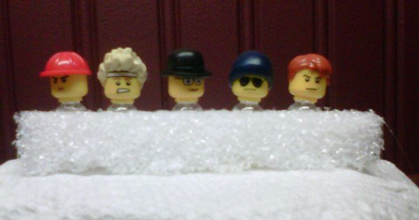 Lego Head Push Pins-- I made these last year for my (adult) nephews ...
