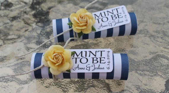 "Mint wedding Favors - Set of 24 mint rolls - ""Mint to"