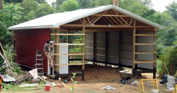 Wood pole barn plans free barn shed or storage for Wood pole barn plans free