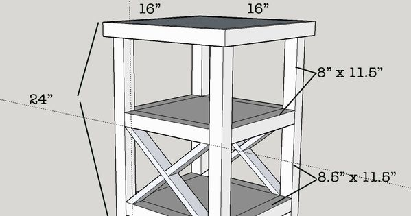 Make A Side Table Taller: Free Plans For A Tall And Skinny X End Table With 2