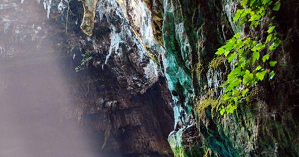 Melissani Cave, Kefalonia, Greece Honeymoon '05