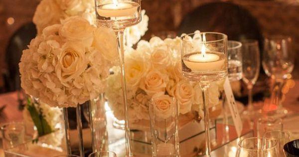 Mirror riser glassware wholesale wedding centerpiece