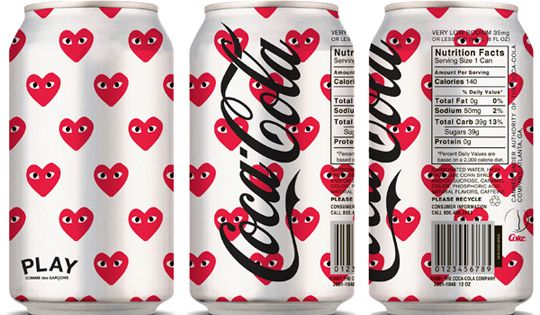 Coca-Cola x PLAY Comme des Garçons Prospective packaging design for a limited