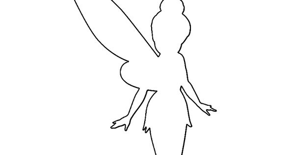 tinkerbell silhouette stencil tinkerbell pinterest party einladung geburtstagsfeier und. Black Bedroom Furniture Sets. Home Design Ideas
