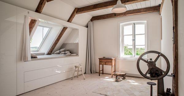 vorhang holzboden weiss lack balken schrankwand modern alkoven kinderzimmer ausblick. Black Bedroom Furniture Sets. Home Design Ideas