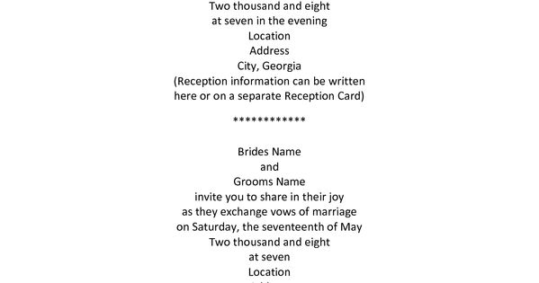 Examples Of Wedding Invitation Wording Hosted By Bride And Groom: Older Couple Wedding Invitation Wording