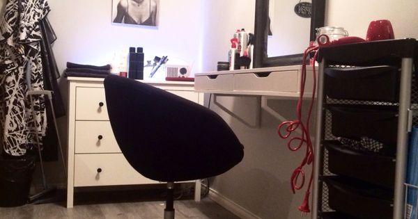 Hair salon at home ikea hack make up corner pinterest - Salon ikea ideas ...
