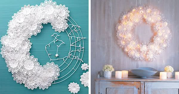 this link doesn't work but I love this wreath idea. White lights