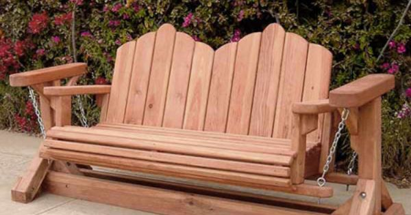 Redwood Glider Swing Bench - Very unique! | Outdoor ...