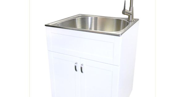 Shop Transform 25 In X 22 In White Cabinet Freestanding Stainless