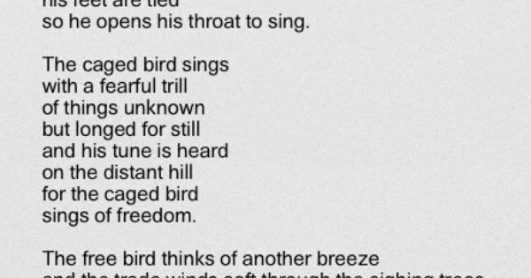 an expression of emotions in i know why the caged bird sings a book by maya angelou I know why the caged bird sings, maya angelou weave provokes deep emotion and thoughtful transformation all throughout the book as angelou grows.