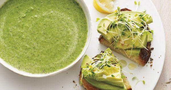 Broccoli-Spinach Soup with Avocado Toasts | Martha Stewart ...