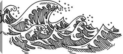 Gallery Direct Fine Art Prints 458031239 By Getty Ocean Drawing Wave Drawing Ocean Wave Drawing