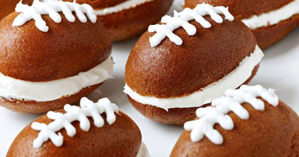 SuperBowl food! Pumpkin Football Cakes - Score big at your next tailgate